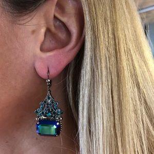 Sorrelli crystal dangle earrings blue purple